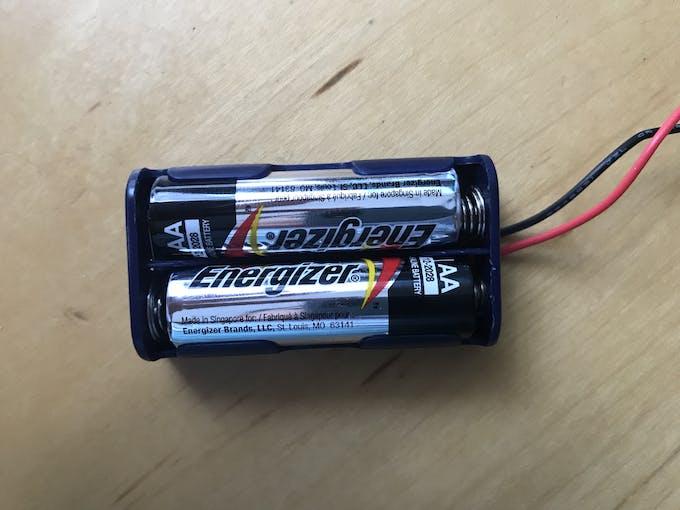 Insert the batteries inside