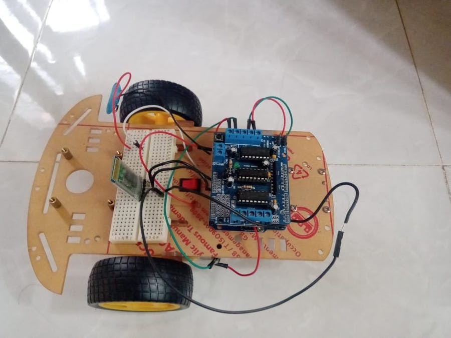Bluetooth Controlled Bot (Using Adafruit L293D Motor Driver)