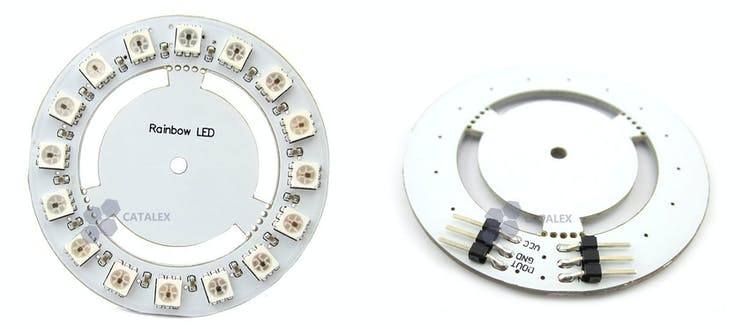 Ring of NeoPixels from the kit.