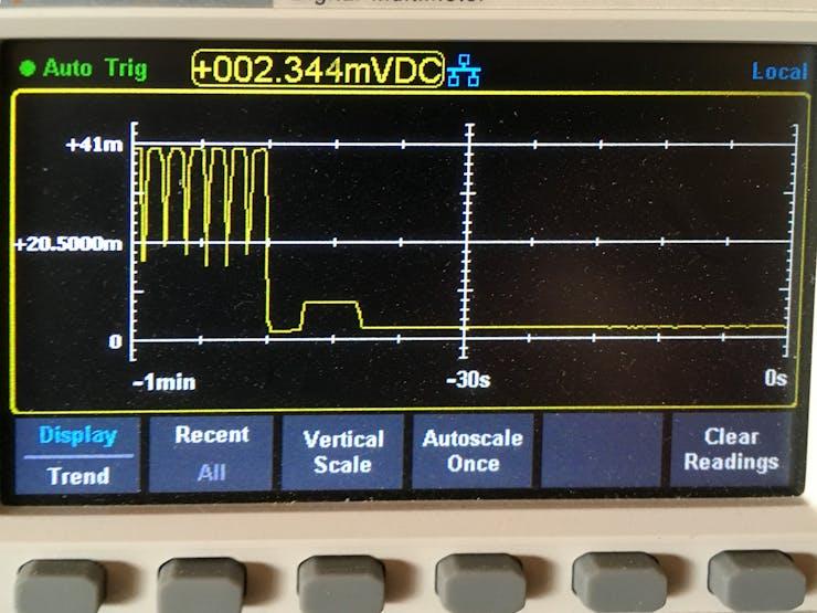 Sensor current draw - 1mV = 1mA