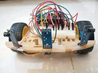 Obstacle Avoidance Bot Using IR Sensors