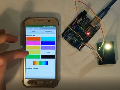 Android Phone Control of NeoPixel Display