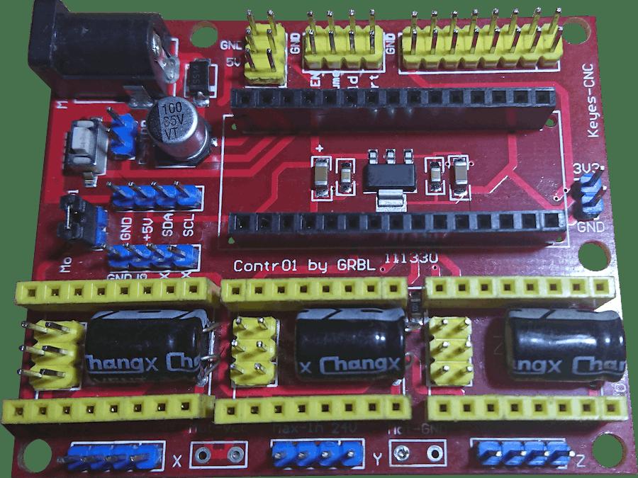 Fixing Cloned Keyes CNC Shield for Arduino NANO