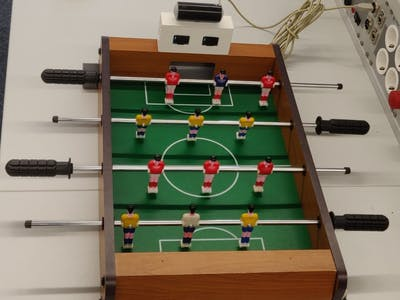 Digitalised table football