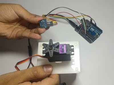 Controlling of Servo Motor with Arduino and MPU6050