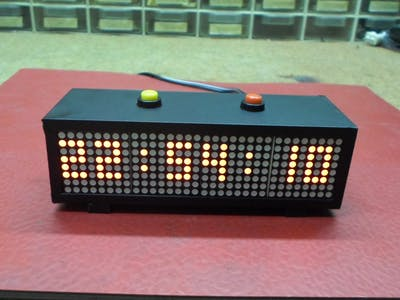 Mini LED Matrix Clock