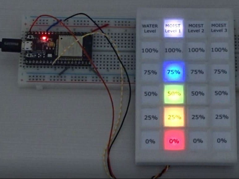 Arduino with 4x6 NeoPixel Level Indicator in 3D-Printed Case
