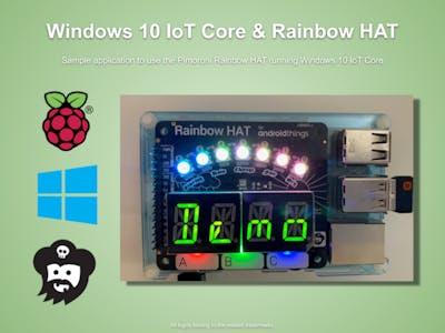 HomeBear. Rainbow - Windows 10 IoT Core + Pimoroni RainbowHAT