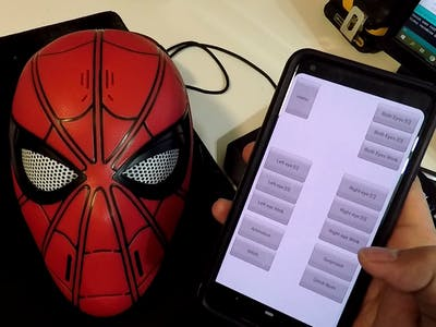 Spider-Man Mask with Servos and Bluetooth Control