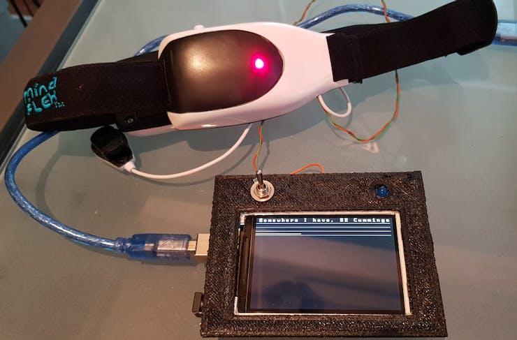 Mind Poetry EEG brain waves with Arduino Mindflex hack