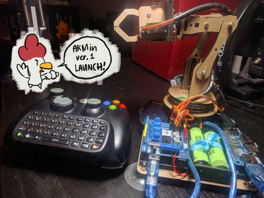 ARMin: Simple Robot Arm Controller Using Python - Arduino