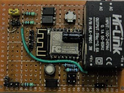 Smart Switch with Motion Detection Using an ESP-12F