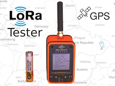 LoRa Tester with LCD & GPS: Open, Configurable, Low-Power