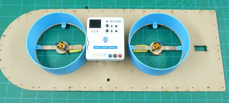 Smartphone Conrolled Hovercraft Made Using Evive-Arduino