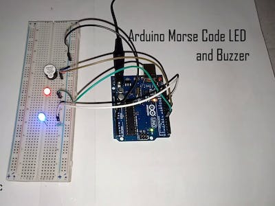 Arduino Morse Code LED and Buzzer