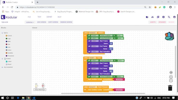 Screen 3 - Block Diagram