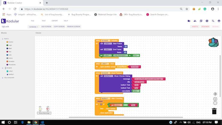 Screen 6 - Block Diagram