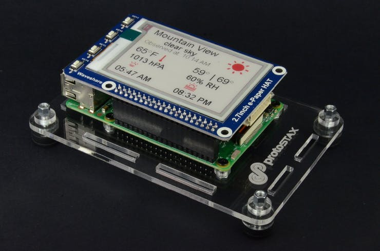 Plug ePaper display into Raspberry Pi GPIO port