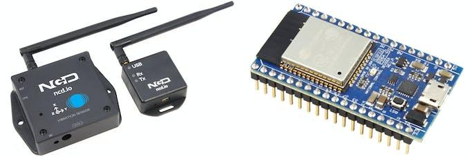 Ubidots, ESP32 and Long Range Wireless Vibration & Temp
