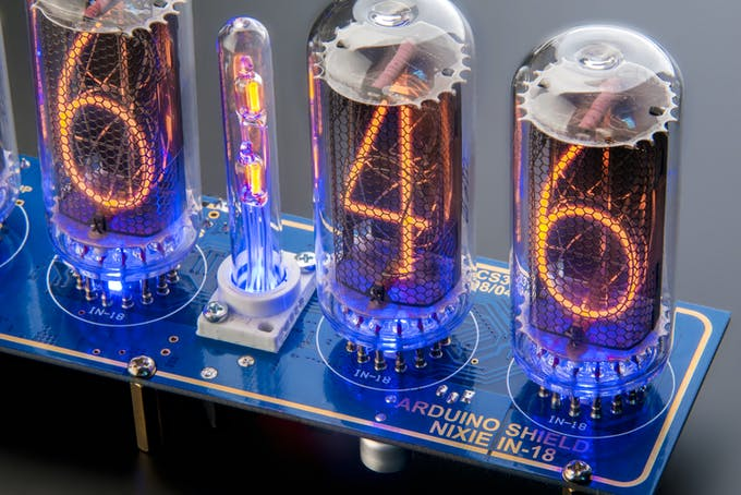 And the new IN-18 Arduino Shield Nixie Clock went out in the production.