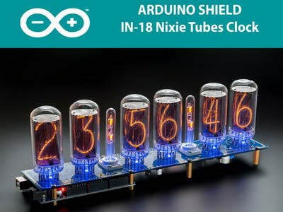 Arduino Clock on IN-18 Nixie Tubes NCS318 LONG Service Life