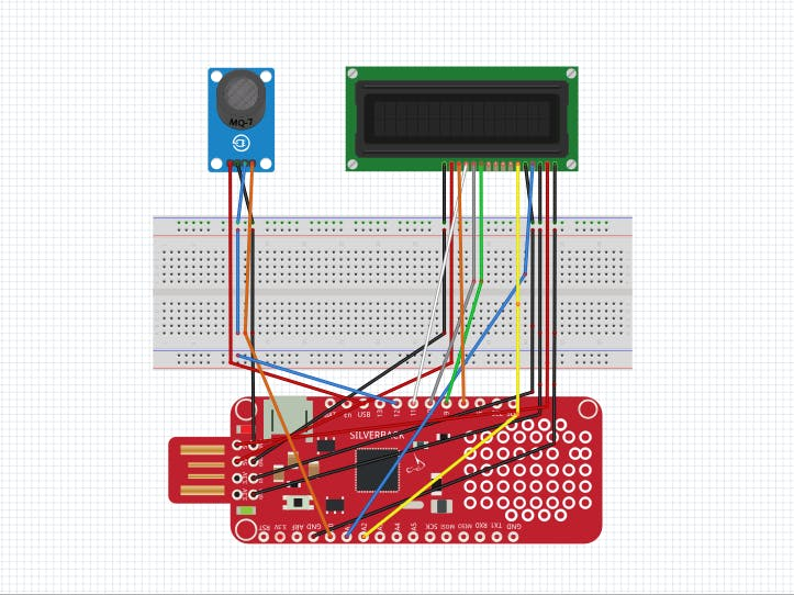 Integration of Surilli Basic M0 with MQ7 and 16x2 LCD