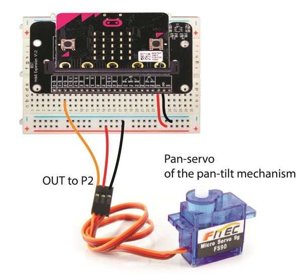 Wiring diagram for the pan-servo