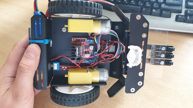 View from the bottom of the robot