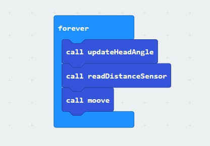 Forever loop with 3 functions for the obstacle avoidance mode