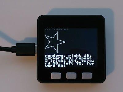 Execute Logo on M5Stack ESP32 Basic with MicroPython