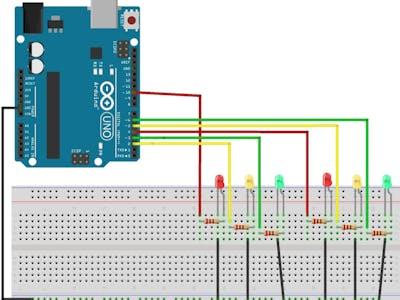 Semáforo de carros usando a função millis( ).