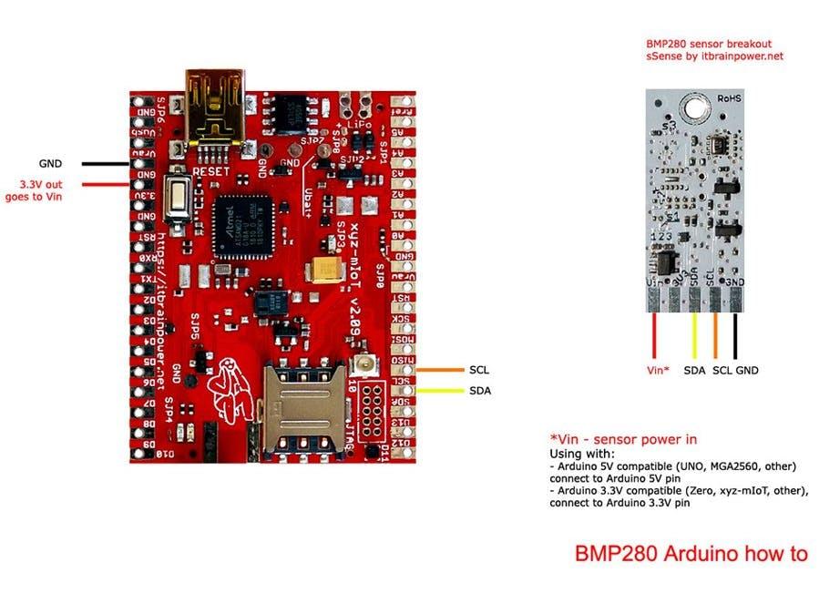 Arduino BMP280 Sensor How To - Hackster io