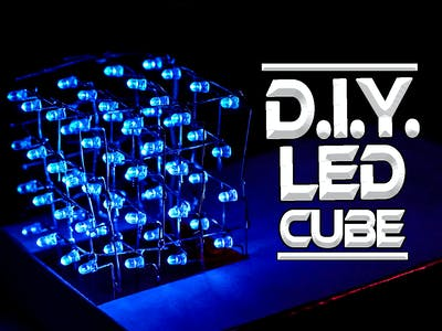 How to Make a 4x4x4 LED Cube with Leftover LEDs