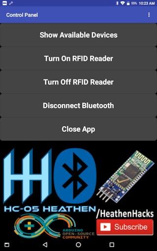 HC-05Heathen App Homescreen