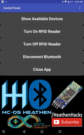 Pseudo Two-Factor Authentication Using HC-05, RFID + Relay