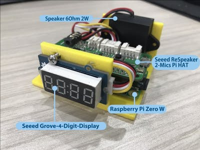 Smart Clock with Alexa Interaction