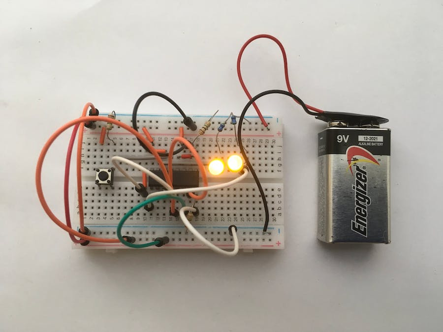 GE Project 007: 2-bit Binary Counter Project