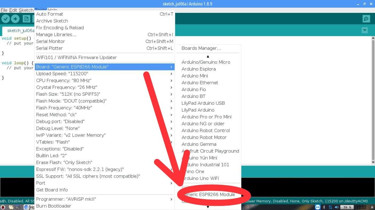 Lilypad arduino blink code