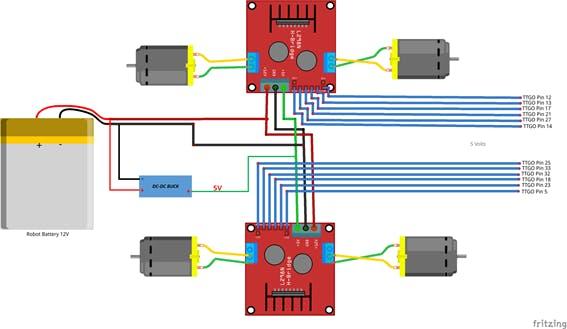 Figure 14, Robot Circuit