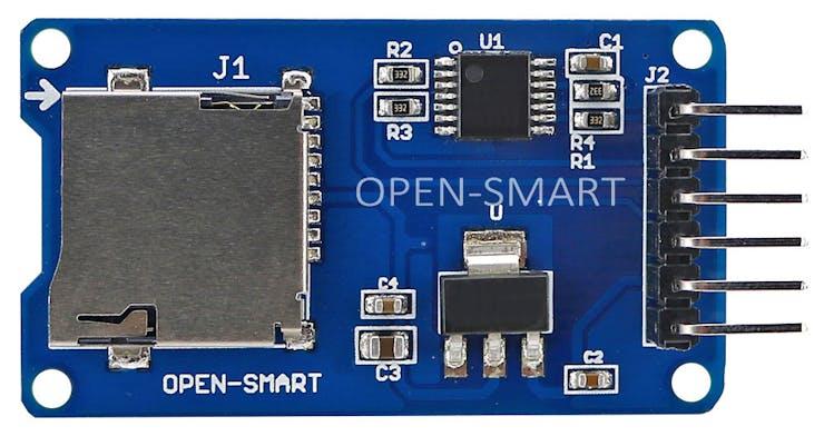 µSD card read-writer from Biomaker Starter Kit
