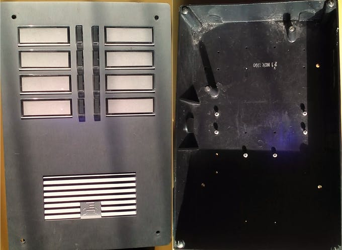 Inherited Intercom Box from the 90's ( Aluminium Front Panel, ABS Back Box )