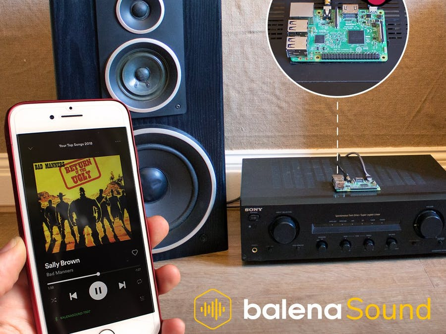 Bluetooth to Hi-Fi Speakers by balenaSound