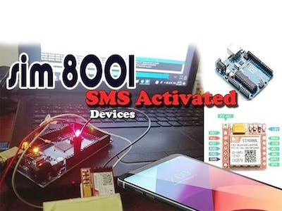 SIM800L GPRS Module with SMS Activated Devices