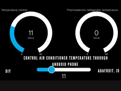 Controlling AC Temperature Through Internet (Adafruit)