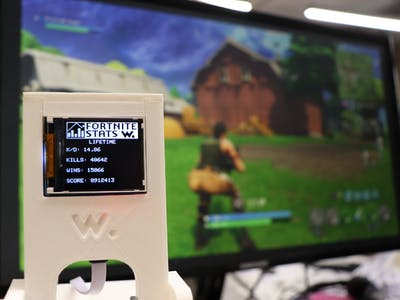 Awesome Fortnite Stats Display Using Wia Dot One + LCD