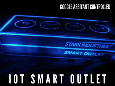 Iot smart outlet controlled by Google assistant