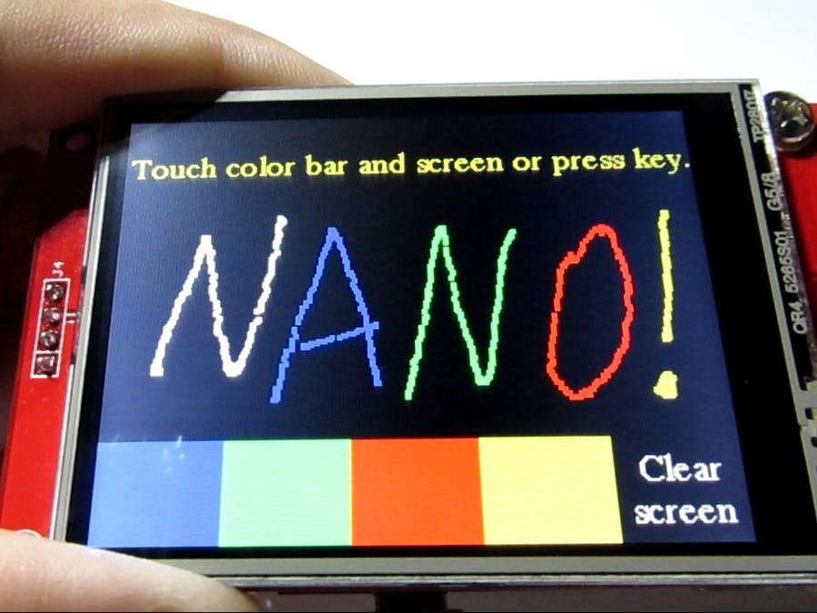 TFT Shield for Arduino Nano - Start