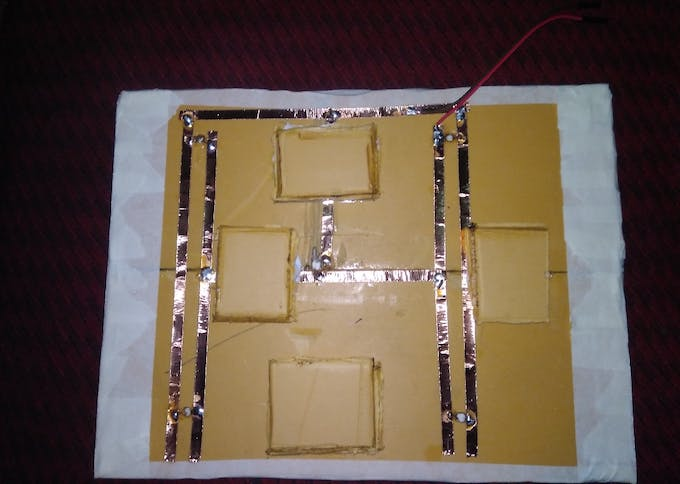 LDR wiring with copper tape