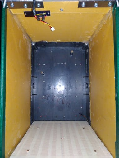 Door Position and Package Sensors installed inside the mailbox