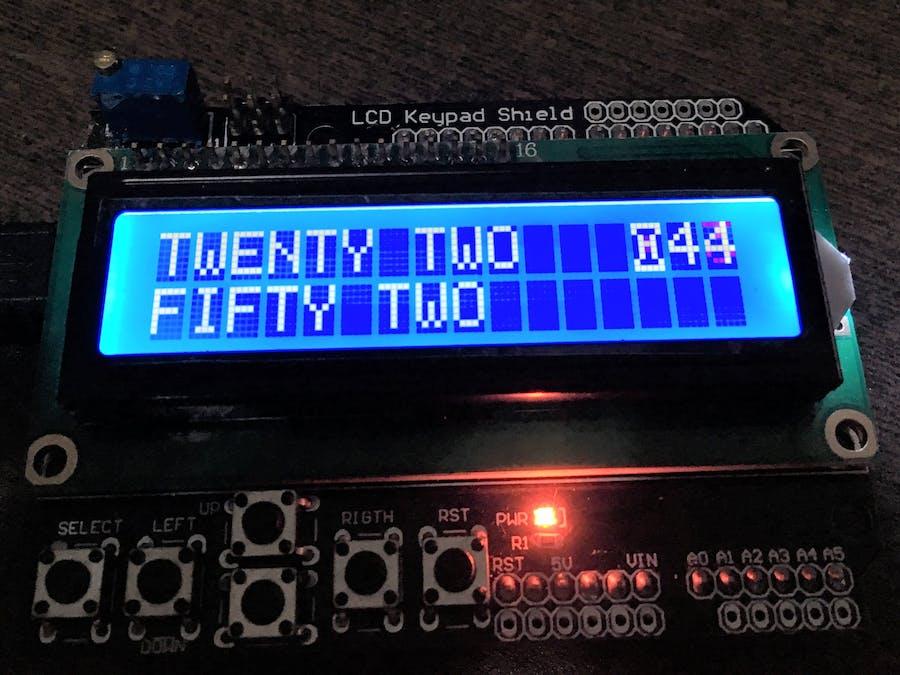 Text Clock Bilingual (EN+PT) with Arduino - Hackster io